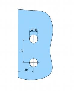 Balama Atelier F/R usa sticla 8-10 mm