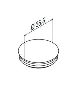 Capac mascare gauri fixare profil U balustrada Easy Glass® Smart