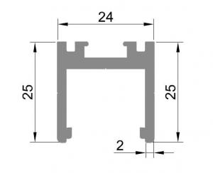 Profil monobloc superior