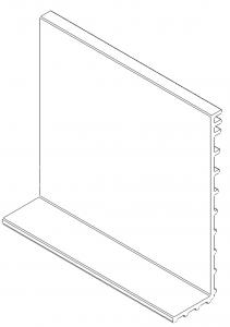 Cala exterioara profil U View Crystal, plastic
