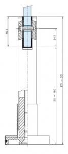 Picior reglabil compartimentare toaleta1