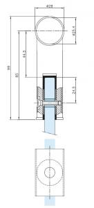 Conector 180° teava Ø25 mm compartimentare toaleta