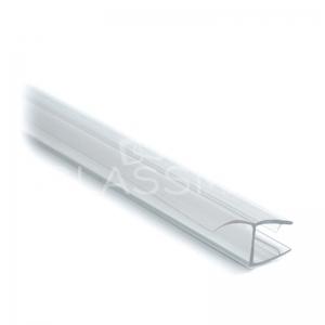 Garnitura cu banda 180° usa sticla-panou fix sticla 8mm, L= 2500 mm