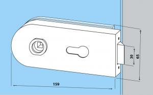 Set Studio Rondo broasca pentru cilindru + 2 balamale usa sticla 8 mm