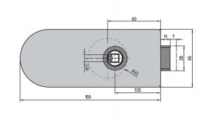 Broasca Studio Rondo fara incuiere usa sticla 8-10 mm