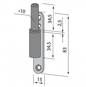 Pivot toc lemn/metalic