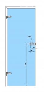 Broasca Arcos Studio pentru cilindru usa sticla 8-10 mm