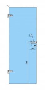 Broasca Arcos Studio pentru baie usa sticla 8-10 mm4