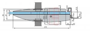 Broasca Arcos Studio pentru baie usa sticla 8-10 mm3