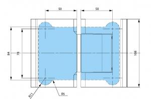 Balama hidraulica Biloba cu amortizare incorporata sticla/sticla