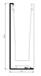 Capac frontal profil U balustrada View Crystal fixare laterala