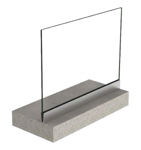 Profil U balustrada View Crystal fixare pardoseala