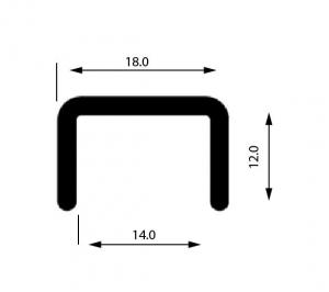 Profil U mana curenta, sectiune 18x12 mm