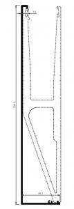 Capac frontal profil U balustrada tip Y View Crystal fixare laterala