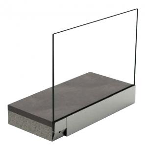 Profil U balustrada tip Y View Crystal fixare laterala