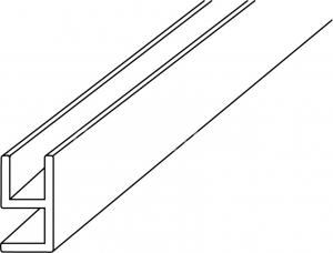 Garnitura imbinare 90° sticla-sticla 8 mm, L=2000 mm