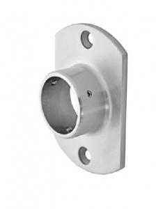 Flansa ovala fixare perete mana curenta rotunda Ø42,4 mm