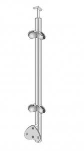 Montant colt exterior rotund echipat pentru sticla fixare pe laterala