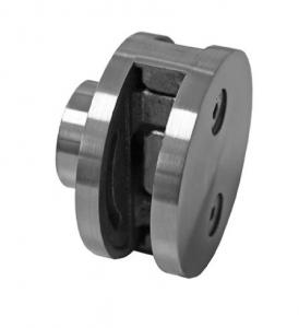 Clema dubla Ø60x28 mm fixare pe teava rectangulara