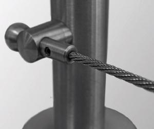 Piesa capat fixare cablu pentru montant balustrada