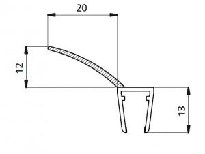 Garnitura ultraclara cu banda flexibila cabina dus sticla 8 mm