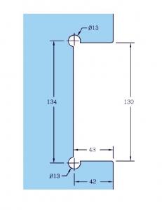 Contraplaca sticla GL 53/K pentru incuietoare de centru GL 53