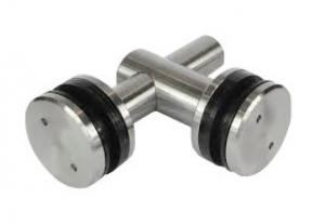 Conector dublu reglabil la 90° sticla/sticla 12,76-17,52 mm