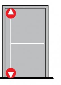 Sistem antipanica PHA 2000, usa 1 canat/inchidere 2 puncte