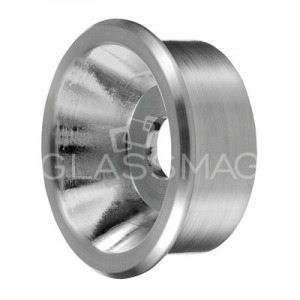 Adaptor cleme sticla, Ø35 mm, inox satinat