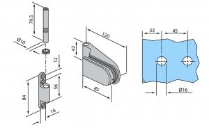 Balama aplicata usa sticla 8-10 mm