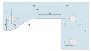 Balama coltar supralumina PT 40 - Dorma Universal Light
