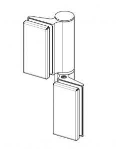 Balama hidraulica Biloba EVO cu blocare 90°/180° fixare pe sticla