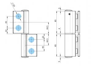 Balama hidraulica Biloba EVO SOL fara blocare fixare pe sticla