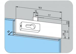 Incuietoare de colt (pardoseala) US 10 - Dorma Universal Light2