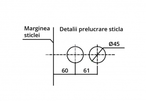 Broasca ovala pentru cilindru usa sticla 8-10 mm3