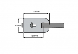 Broasca ovala pentru cilindru usa sticla 8-10 mm1