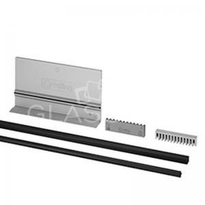 Set cale si garnituri ajustabile profil U Easy Glass Pro sticla 12 mm, L=2500 mm