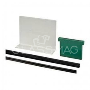 Set cale si garnituri profil U Easy Glass Eco/Slim sticla 15 mm, L=5000 mm