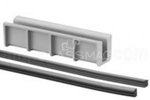 Set cale si garnituri profil U Easy Glass Hybrid sticla 10-10,76 mm, L=5000 mm