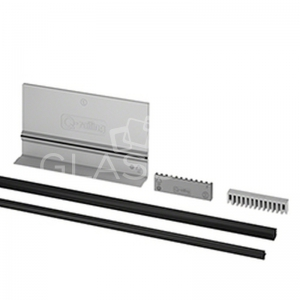 Set cale si garnituri ajustabile profil U Easy Glass Pro sticla 21,52 mm, L=2500 mm