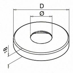 Capac, Ø 105 mm, teava Ø 42.4 mm ,inox satinat