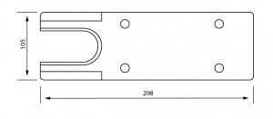 Capac acoperire amortizor TS 500 NV