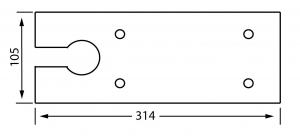 Capac amortizor pardoseala 8460 V