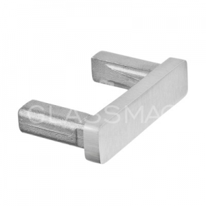 Capac capat mana curenta rectangulara, 40x10 mm ,inox satinat