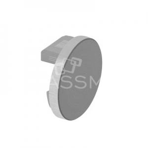 Capac capat mana curenta ,Ø42.4x1.5 mm ,aluminiu mat