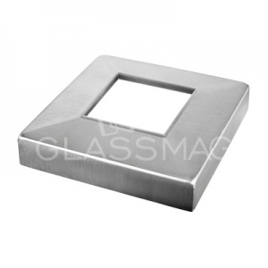 Capac, 108x108 mm, inox satinat