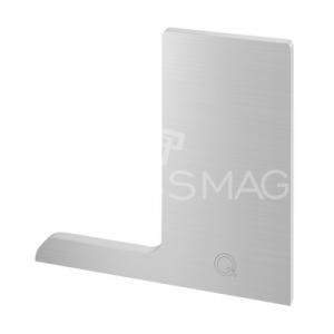Capac profil U, Pro F, stanga, aluminiu, efect inox satinat