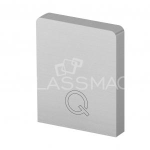 Capac capat profil U Easy Glass Hybrid fixare pardoseala, montaj la interior, aluminiu eloxat