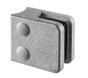 Clema MOD 21 fixare pe rotund pentru montant balustrada sticla 6-10 mm