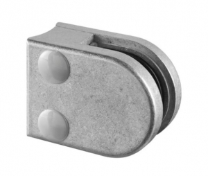 Clema MOD 20 fixare pe rotund pentru montant balustrada sticla 6-8 mm